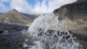 Glacier fountain