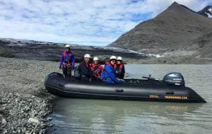 Zodiac boat tour included in the ice climbing tour