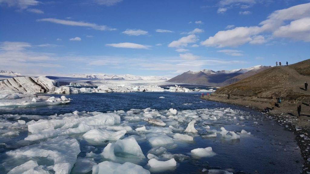 glacier lagoon icebergs