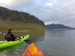 kayaking in Icelandic nature is a great family kayak adventure tour