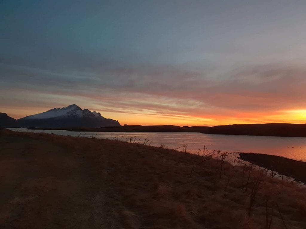 Red sunset in Höfn