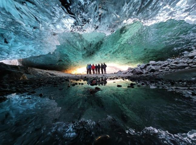 Crystal Blue Ice Cave Adventure Iceland Vatnajökull Glacier Lagoon