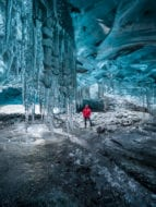 Ice cave and snowmobile tour