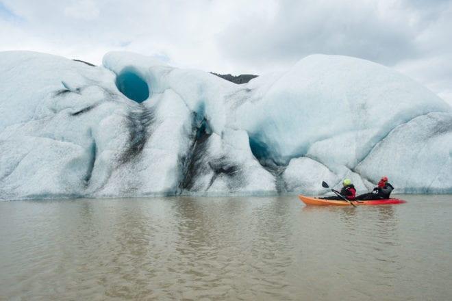 Glacier Lagoon Kayaking Iceland Icebergs