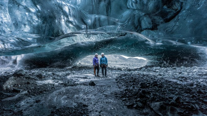 Ice Cave Action: Ice Cave Tour and Snowmobile Tour